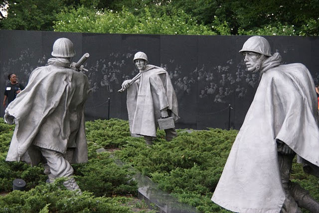 Korean War Memorial Statues The Korean War Memorial